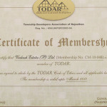 Certificate of Membership by Todar